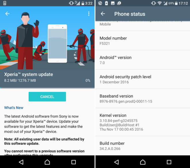 Sony-Xperia-X-Compact-Nougat-update