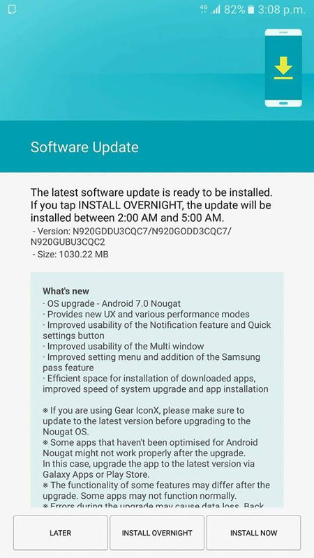 Samsung-Galaxy-Note5-Android-7.0-Nougat-India