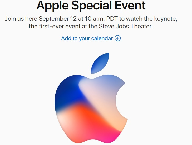 iPhone 8 launch event confirms to September 12 at 10 a.m. PDT