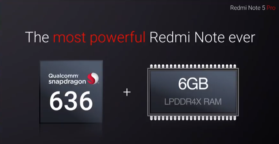 Xiaomi Redmi Note 5 Pro with Snapdragon 636 processor